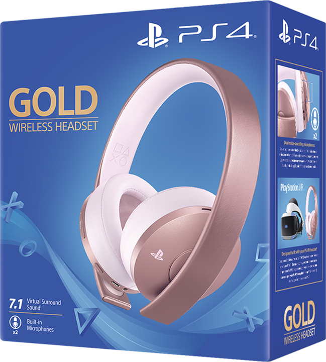Sony Computer Ent. PS4 Gold Wireless Headset - Rose Gold Edition