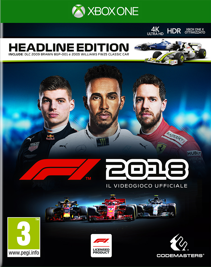 Codemasters XBOX ONE F1 2018 - Headline Edition