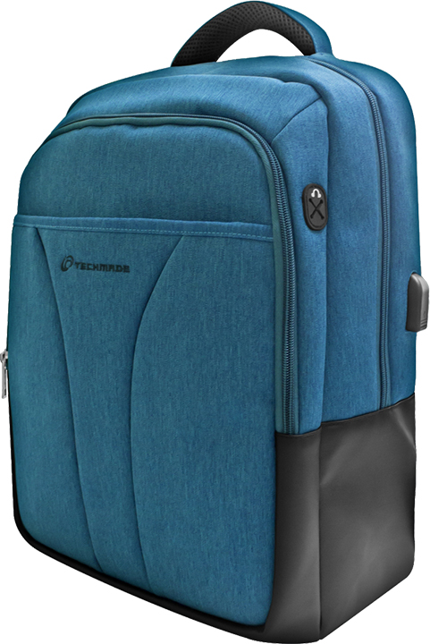 "Techmade Techmade Zaino TechBag-T-BLper Notebook 15,6"" con porta USB Blu"