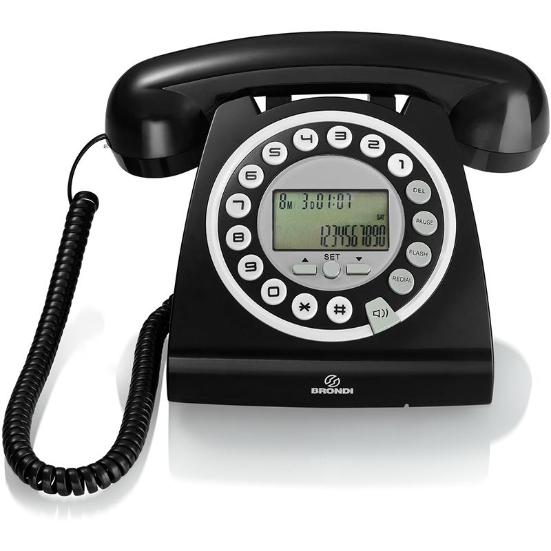 Erregame brondi telefono brondi hallo nero - Telefono fisso design ...