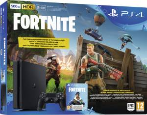 Sony Computer Ent. PS4 Console 500GB F Chassis Slim Black + Fortnite VCH