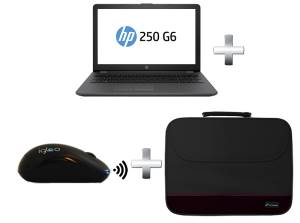 "HP Notebook HP 250 G6 2SX49EA Celeron N3350 15,6"" + Borsa Techmade Nero + Mouse Wireless Igloo Nero"