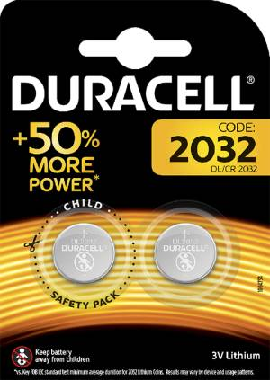 Duracell Duracell Batterie Lithium Long Lasting Power CR2032 2pz