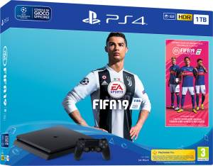 Sony Computer Ent. PS4 Console 1TB F Chassis Slim Black + Fifa 19