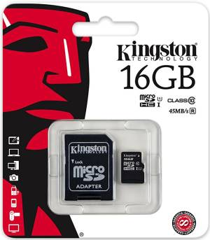 Kingston Micro SD Kingston 16GB Classe 10 SDCS/16GB + Adattatore SD