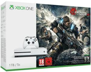 Microsoft XBOX ONE S Console 1TB + Gears Of War 4