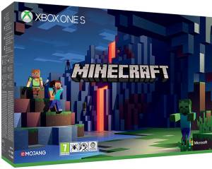 Microsoft XBOX ONE S Console 1TB Minecraft Limited Edition + Minecraft