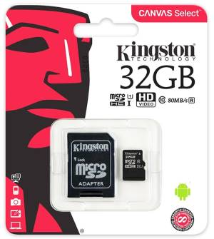 Kingston Micro SD Kingston 32GB Classe 10 SDCS/32GB + Adattatore SD