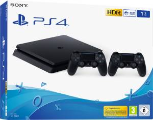Sony Computer Ent. PS4 Console 1TB F Chassis Slim + 2 DualShock V2