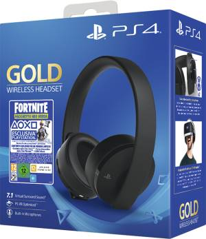 Sony Computer Ent. PS4 Gold Wireless Headset + Fortnite VCH (2019)