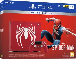 Sony Computer Ent. PS4 Console 1TB Limited Edition Amazing Red + Marvel's Spider-Man