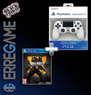 Sony Computer Ent. Black Friday PS4 Dualshock 4 Glacier White V2 + Call of Duty: Black Ops 4