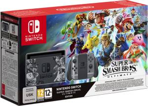 Nintendo Switch Console Super Smash Bros Limited Ed. + Super Smash Bros. Ultimate