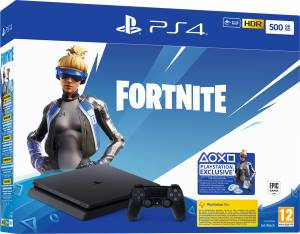 Sony Computer Ent. PS4 Console 500GB F Chassis Slim Black + Fortnite VCH (2019)