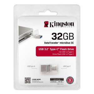 Kingston Kingston Pendrive USB 3.1 32GB Type-A e Type-C DTDUO3C/32GB