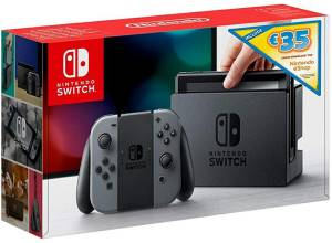 Nintendo Switch Console Grey + 35€ eShop Voucher