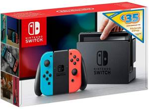 Nintendo Switch Console Red/Blue + 35€ eShop Voucher