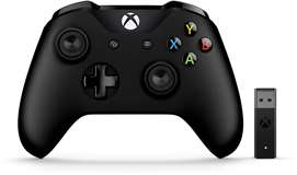 Microsoft XBOX ONE Controller Wireless Black + Wireless Adapter (Win10)