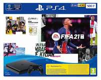 Sony Computer Ent. PS4 Console 500GB Chassis Slim Black + FIFA21 + FUT 21 VCH